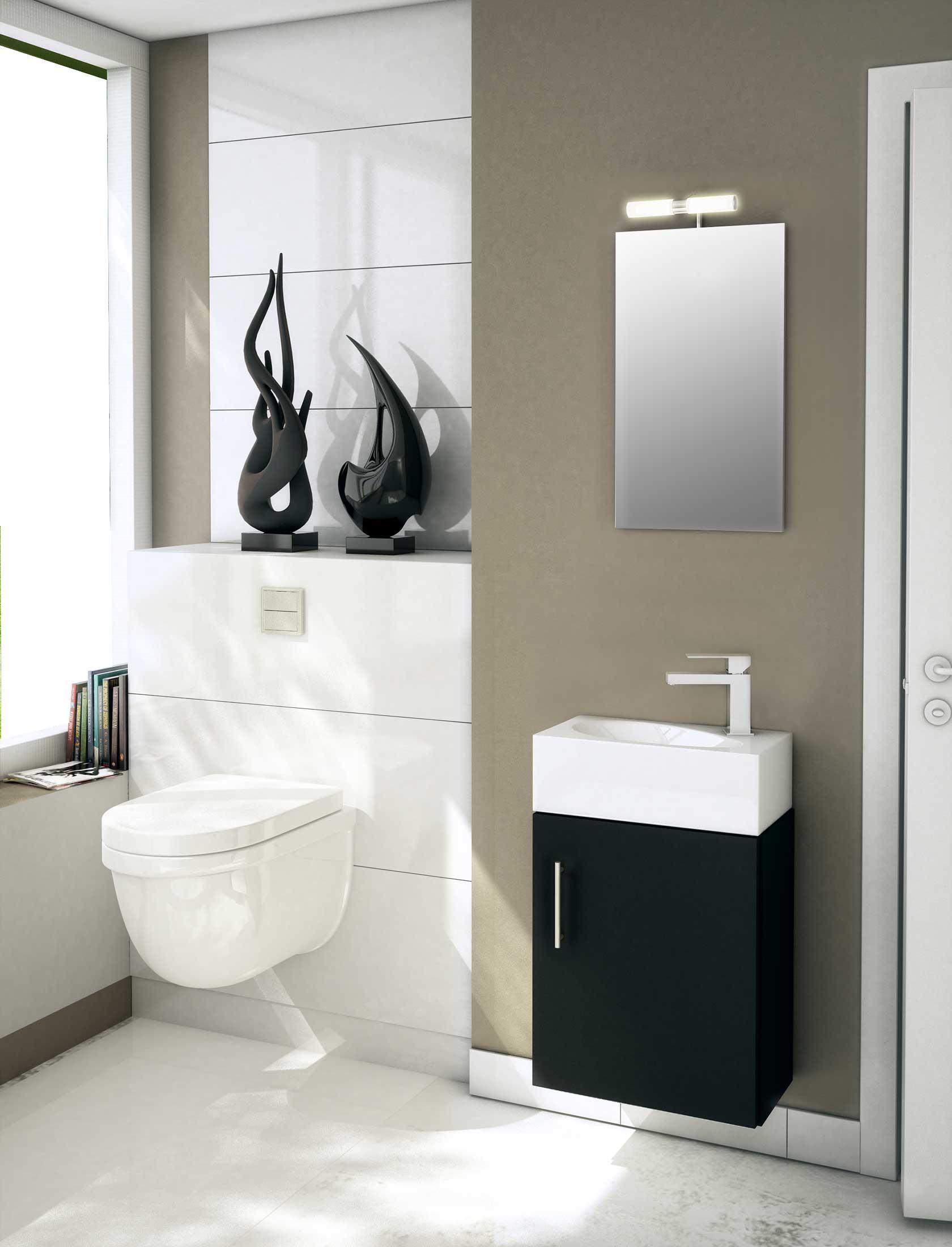 salles de bain noir et blanc