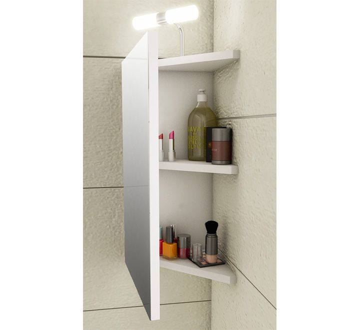 rangement angle salle de bain