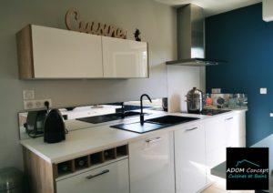 Rénovation de cuisine à La rochelle Cuisine laqué blanche
