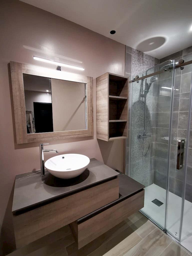 Création salle de bain neuve